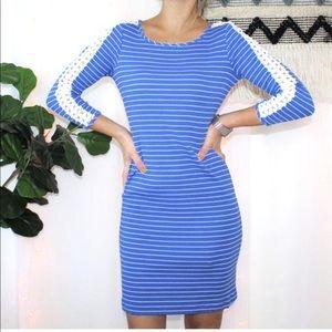 Lilly Pulitzer Marlowe Ribbed Dress Breeze Stripe